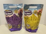 2 Lb Bags Each Of Kinetic Sand Yellow And Purple New In Bags Lot Of 2 E