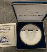 1997 Giant Half-pound Pure Silver Eagle Proof .999 Round 1/2lb. Coin And Case Coa