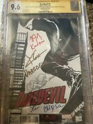 Daredevil 1 Quesada Sketch Variant Cgc Ss, 5x Signed By Cox, Henson, D'onofrio