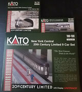 N Kato Nyc Ny Central 20th C Limited Set 106-100/7130/0440 2 Engines And 13 Cars