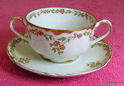Haviland Handco Schleiger 523 Bouillon Cup And Saucer Set Exc