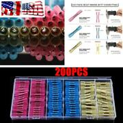 Car Electrical Wire Terminal Heat Shrink Butt Crimp Terminals Red Blue Yellow