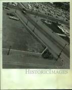 1969 Press Photo Aerial View Of Malaga Inn Parking Lot And Pool In Mobile Alabama