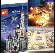 Lego The Disney Castle 71040 With Light Kit,remote And Disney Dollar New
