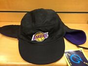 Rare Vintage Lakers Hat Cap Nba Basketball Fitted Medium Stretch Fit Vtg Winter