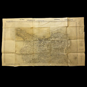Rare Wwii 1941 German Captured Normandy Battle Of Cherbourg Infantry Combat Map