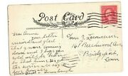 George Washington 2 Cent Stamp Red Rare Embossed Postcard Post Marked 1917