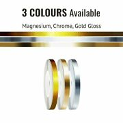 Universal Motorcycle Wheel Rim Tape And Applicator Magnesium Gold Chrome 5mm