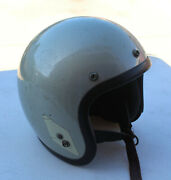Vintage Bell Magnum Toptex Motorcycle Helmet Grey Gray Mag Size 7 And 1/4 Rare