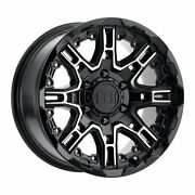 22 Inch 22x10 Level8 Slingshot Black Machined Wheels Rims 6x135 +12