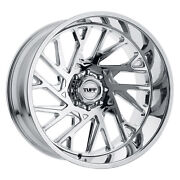 22 Inch 22x12 Tuff T4b Cand Red Milled Left Wheels Rims 8x6.5 8x165.1 -45