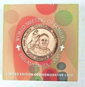 Limited Edition World Meeting Of Families Philadelphia 2015 Coin Pope Francis