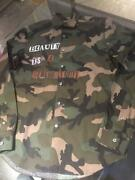 Auth Valentino Garavani Shirt Camouflage Size 39/m Cotton Never Used From Japan