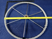 28andrdquo Boat Marine Stainless Steel Steering Wheel 1andrdquo Shaft Wrapped 6 Spoke Edson