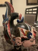 Circa 1900 Antique Asian Chinese Hand-carved Wood Puppet Head Woman