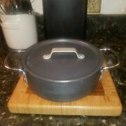 Vintage Calphalon 3 Qt Anodized Pan With Lid And Double Handles 143