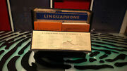 Linguaphone Language Course French 78 Rpm Record Set With Books And Case Decent
