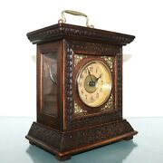 Junghans Alarm Mantel Clock Antique 1910s Bell Chime Germany Carriage Restored