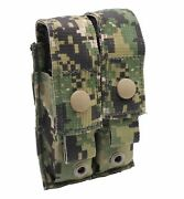 New Eagle Industries Aor2 Double Pistol Magazine Pouch Flat V.2 Soflcs - Molle