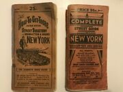 Street Guide And Directory For Manhattan And Bronx - 2 Copies From 1946 And 1947-48