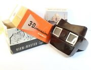 Lot Of 2 View-master Vintage 3d Model E Bakelite View Master - Work Great