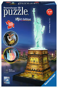 12596 Ravensburger Statue Of Liberty 3d Puzzle Night Edition 216pc Jigsaw