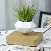 Floating Geometric Flower Pot Magnetic Levitating Humidifier Self Watering Plant