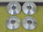 1965 Oldsmobile Dog Dish Hub Caps 10 1/2 Set Of 4 Olds 442 Hubcaps 65