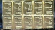 💎 10 X 999 Fine Silver 1 Gram Valcambi Suisse Bars The Best Silver