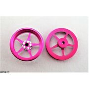 Pro Track Pro Star Series Cnc Drag Front Wheels 3/4 O-ring Pink Limited Editi