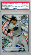 2016 Topps Aaron Judge Bowmans Best Top Prospects Atomic Pre Rookie Card Psa 10