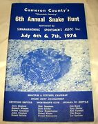 Cameron Countyand039s 6th Annual Snake Hunt Vintage Booklet July 6-7 1974 In Pa.