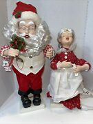 Telco Motion-ette Santa And Best Mrs Claus Animated Work Vintage