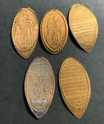 Elongated Cent Lordand039s Prayer Lot Of 5 Religious 10 Commandments Wwjd Pressed 6