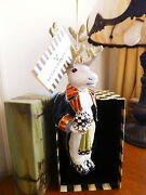 Mackenzie Childs Mr Forester Christmas Ornament Chicken Palace Glass - New/box