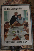 Vintage Norman Rockwell Freedom From Want Poster 1943