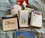 Lot Of 150+ Vintage Mcm Christmas Cards Used Well Kept 60and039s 70and039s