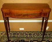 Fine Vintage Baker Furniture Card Or Games Table With Drawer In Federal Style