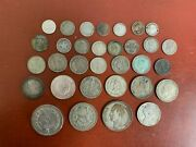Mixed Lot Silver Foreign Coins Some Better Types 200 Grams 32