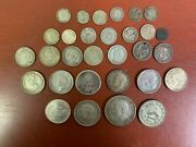 Mixed Lot Silver Foreign Coins Some Better Types 200 Grams Orange 30