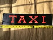 Vintage Taxi Cab Roof Top Light Topper Advertising Sign Glass Reverse Painted