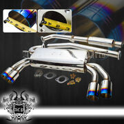 For 09-14 Genesis Coupe 2.0t Stainless Steel Catback Exhaust Muffler Burnt Tip