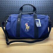Polo Duffle Bag Big Pony Canvas Travel Carry On Weekender Man Mens