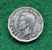 1945 Canadian 5 Cents Chrome Coin Great Buy For The Sharp Eye