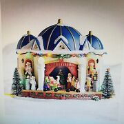 St. Nicholas Square Village Christmas Play Lights Up Plays Songs New