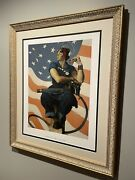 Beautifully Custom Framed Vintage Rosie The Riveter By Norman Rockwell Museum