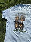 """Vintage 70s The Beatles """"away With Words"""" Tee Shirt In Large And In Light Blue"""