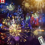 Firework Copper Led Christmas Hanging Ball Lights 8 Modes Fairy Light And Remote