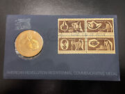 Usa Revolution 1972 Bicentennial Washington First Day Issue Coin Stamp Cover