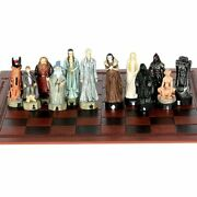 Chess Set Luxury Newest Design Leather Chessboard Movie Theme Resin Doll Sets